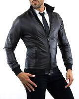 PROMOZIONE Giacca Giubbotto in di Pelle Uomo Men Leather Jacket TG.44 xs - 52 xl