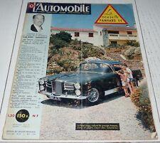 L'AUTOMOBILE 07/1959 N°159 PANHARD PL17 SIMCA SHAMROCK SAAB PORSCHE F2 RENAULT