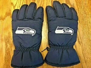 Seattle Seahawks Insulated Gloves - Men's L - NFL Team Apparel  - Same Day Ship!