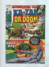 Astonishing Tales 1 Aug 1970 NM KaZar Dr Doom Kraven the Hunter 1st villain solo