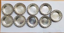 VINTAGE AMSTON STERLING 1207  STERLING SILVER SMALL TRAYS - SET OT 9
