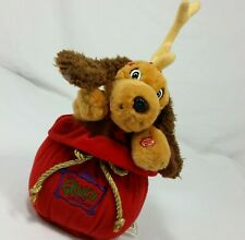Plush Max Dog In Santas Bag How The Grinch Stole Christmas Moves Moving Decor