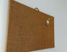 CORK Bulletin NOTICE Rustic HESSIAN Fabric Board