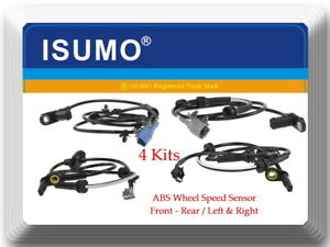 Set 4 ABS Wheel Speed Sensor Front-Rear Left & Right Fits Nissan Quest 2004-2009