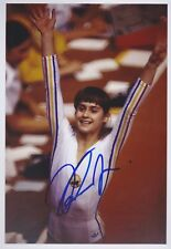 NADIA COMANECI 2 Turnen Olympia 13x18 signiert IN PERSON Autogramm signed RAR