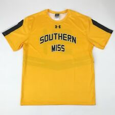 New Under Armour Men's L Southern Miss Golden Eagles Baseball Jersey Yellow $55