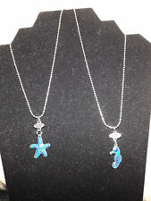 Mood Best Friends star fish sea horse necklace fashion jewelry BFF necklaces