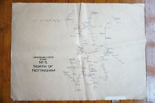 More details for lms railway large linen route map of north of nottingham