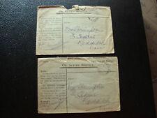 EUROPE - 2 enveloppes 1915/1916 (cy73)