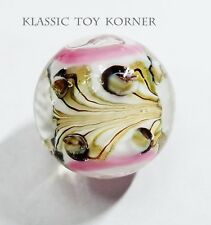 """HANDMADE GLASS MARBLE  """"WOOD NYMPH'S CROWN""""  22mm SHOOTER"""