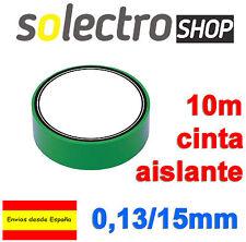 2x Cinta Aislante PVC Verde 10 metros x 15mm x 0,13mm  H0035