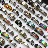 Wholesale MIX 20X  Stainless Steel rings Wholesale Men Women Fashion Jewelry lot