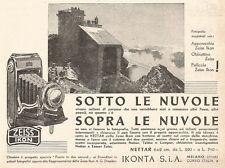 W2886 ZEISS IKON Nettar - Sotto le nuvole... - Pubblicità del 1937 - Old advert