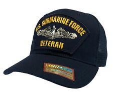 'VETERAN' US Submarine Force Hat Dark Blue Mesh Back Cap 'LOT OF 25 PIECES'