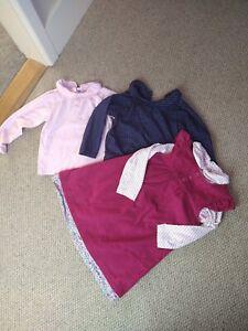 JoJo Maman Bébé Girls Winter Bundle 18-24 Months Pinafore Dress Long Tops