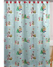 Disney Mickey Minnie Mouse Goofy Donald Duck Christmas Shower Curtain Set RUG