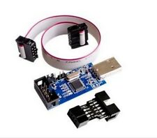 AVR Programmer, USBASP AVRISP + cable + 6 pin Converter Arduino ATMEGA 3.3v - 5v