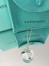 """Tiffany & Co. Rock Crystal Eternal Circle 5/8"""" Necklace Elsa Perretti Authentic"""