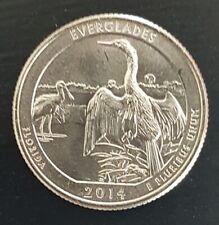 Quarter dollar USA FLORIDA EVERGLADE 2014 unc parc Floride