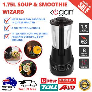 1.75L Soup And Smoothie Wizard Fruit Juice Dip Sauce Maker Blender Stainless Jug
