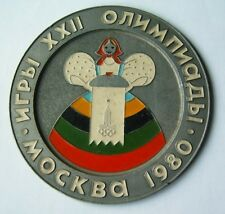 OLYMPIC MOSCOW 1980 Olympic games Russia metal plate rare