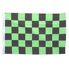 SMF Small 12 Inch X 20 Inch Replacement Green And Black Checkered Flag For Whip