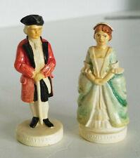 Vintage Colonial Williamsburg Governor Lady Pair Sebastian Miniatures Figurines