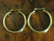 8kt 333 Yellow Gold Hoop Earrings/ Earrings/ 3,4g/ Ø 25,3 MM