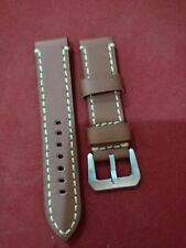 Wrist Watch 22mm width and 4mm thick heavy-duty Leather Strap