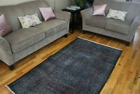 Overdyed,Turkish Rug,Contemporary Oushak Handwoven Wool  Carpet 3'11'x7' RDM
