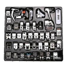 42 PCS Domestic Sewing Machine Presser Foot Feet Snap On For Brother Singer Set