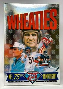 Wheaties NFL 75th Anniversary Shula Butkus Payton Rice Baugh Empty