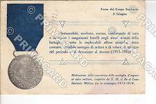 81176 MILITARE MILITARY 1926 FESTA CORPO SANITARIO 2° COMPAGNIA SANITÀ MEDAGLIA