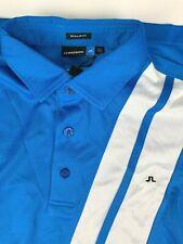 NWT J Lindeberg Regular Fit Comfortsensor Polo Golf Shirt sz 2XL Blue White