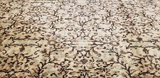 Stunning Muted Dyes Antique 1940-1950s Wool Pile Legendary Hereke Rug 8x11ft