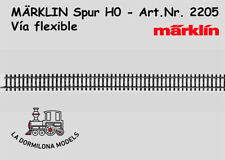 MÄRKLIN 2205 H0 Vía flexible Longitud 5 x 1/1 = 900 mm. - NUEVA