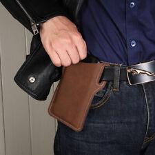 Men's Fashion Leather Vintage Cell Phone Belt Fanny Pack Waist Purse Bag Wallet