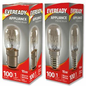 Eveready 15w Fridge / Appliance / Sewing Machine Pygmy Bulb SES E14 SBC B15 240v