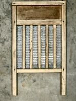Vintage National Wooden Washboard - # 701 - Made In USA