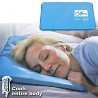 New Chillow Therapy Insert Sleeping Aid Pad Mat Muscle Relief Cooling Gel Pillow