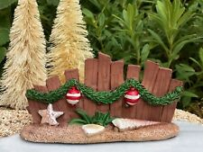 Miniature Dollhouse FAIRY GARDEN ~ BEACH Sea CHRISTMAS Wood Look Resin Fence NEW