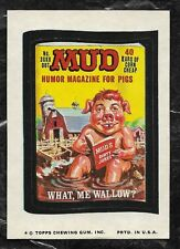 1974 TOPPS WACKY PACKAGES MUD MAGAZINE 11TH SERIES