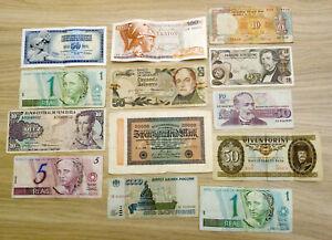 Lot de  monnaies étrangères Billets (x13)