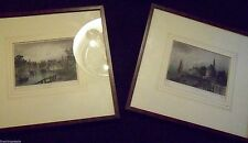 SET of TWO DARMSTADT 1800's 19th CENTURY HAND COLORED ENGRAVINGS PRINTS ANTIQUE