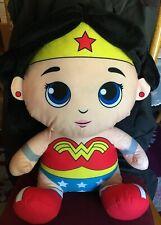 "DC Justice League Warner Brothers Big Large Plush Wonder Woman Stuffed 22"" Hero"