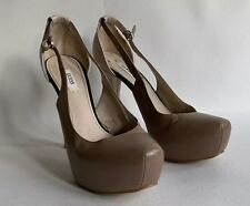 Guess Nude & Taupe Leather Pumps Very High Heels Court Shoes UK 5 EU 38 US 7.5M
