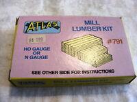 Vintage HO Scale Atlas 791 Mill Lumber Kit