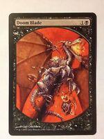 Promo Textless Doom Blade   VO -  MTG Magic (NM)