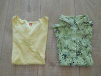 2 x Basic Tshirts Damen Gr.XS/S (34/36) Street One S.Oliver Shirt/Bluse Grün/Gel