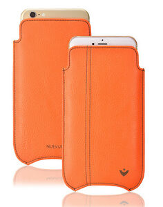 iPhone 11   iPhone XR Case ORANGE Faux NueVue SANITIZING Screen Cleaning Sleeve